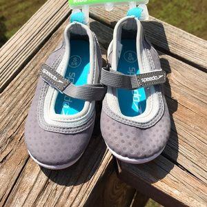 Baby girls speedo gray summer water shoes